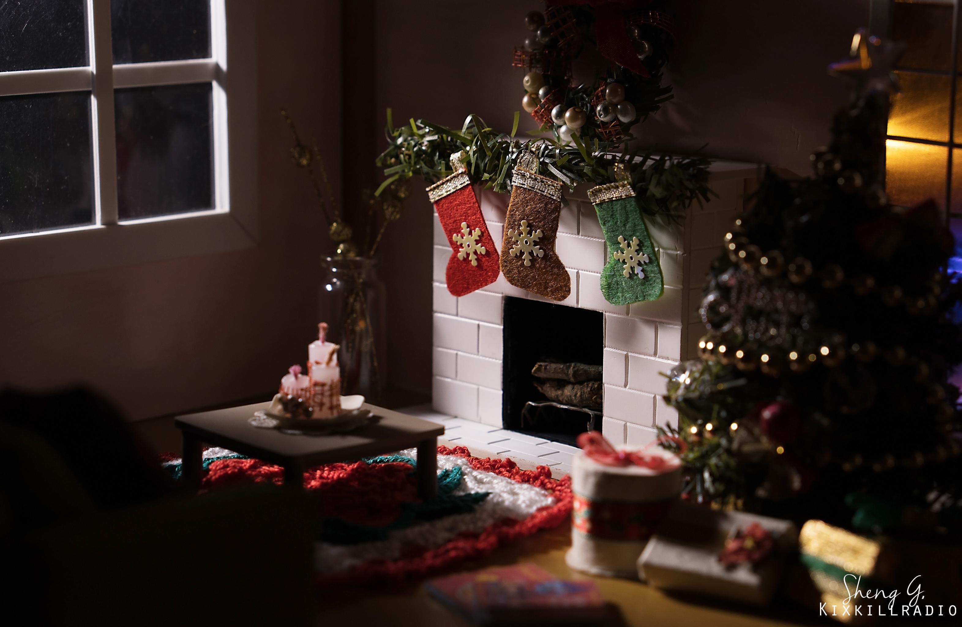 diy dollhouse miniature christmas room diorama