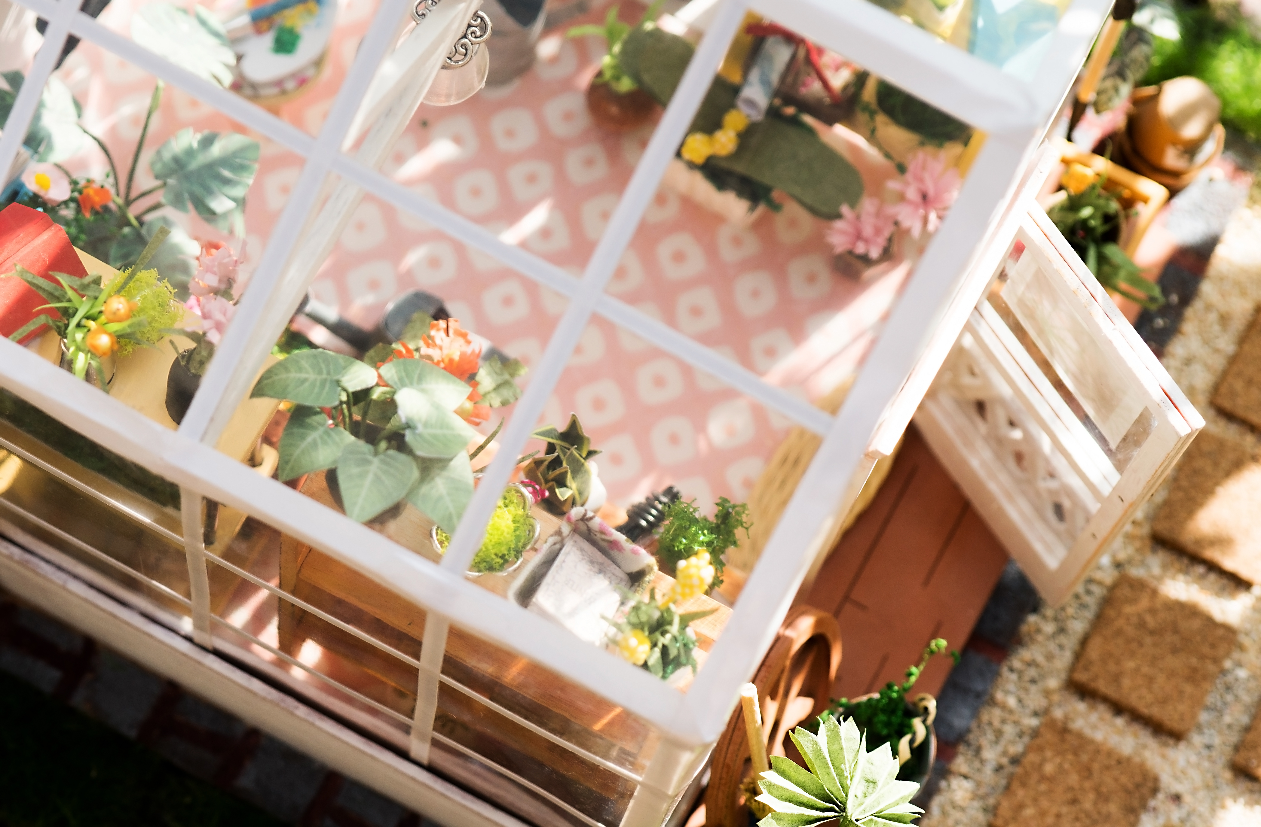 Diy Dollhouse Kit Miniature Greenhouse Cathys Flower House Wiring Today Im Showing You A New I Received From Robotime Its Their Houses Series Since
